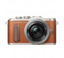 Olympus E-PL8 Korpus Brazowy + EZ-M1442 Pancake Zoom Srebrny ( V205082NE000 V205082NE000 V205082NE000 ) Digitālā kamera