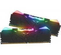 Patriot Viper RGB Black 16GB [2x8GB 3200MHz DDR4 CL16 1.35V DIMM] PVR416G320C6K