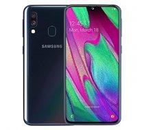 "Samsung Galaxy A40 Black, 5.9 "", Super AMOLED, 1080 x 2340, Exynos 7904, Internal RAM 4 GB, 64 GB, microSD, Dual SIM, Nano-SIM, 3G, 4G, Main camera Double 16 + 5 MP, Secondary camera 25 MP, Android, 9.0, 3100 mAh"