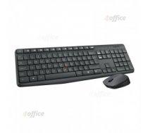 Komplekts LOGITECH MK235, bezvadu klaviatūra un pele, ENG, melna