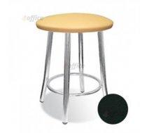 Bāra krēsls NOWY STYL TEDDY Chrome V 4 melns, ādas imitācija