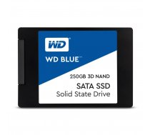 "WD SSD|WESTERN DIGITAL|Blue|250GB|SATA 3.0|TLC|Write speed 525 MBytes/sec|Read speed 550 MBytes/sec|2,5""|TBW 100 TB|MTBF 1750000 hours|WDS250G2B0A"
