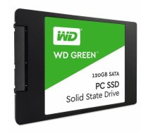 "SSD | WESTERN DIGITAL | Green | 120GB | SATA 3.0 | TLC | Write speed 430 MBytes/sec | Read speed 540 MBytes/sec | 2,5"" | MTBF 1750000 hours | WDS120G2G0A WDS120G2G0A"