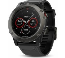 Garmin fenix 5X Sapphire Slate grey with black band Multisporta GPS pulkstenis 010-01733-01