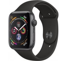 Apple Watch Series 4 GPS, 40mm Space Gray Aluminum Case with Black Sport Band MU662ZP/A