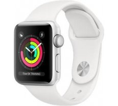 Apple Watch Series 3, 38mm Silver Aluminium Case with White Sport Band MTEY2