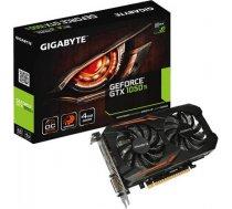 Gigabyte GeForce GTX 1050 Ti OC NVIDIA, 4 GB, GeForce GTX 1050 Ti, GDDR5, Memory clock speed 7008 MHz, PCI Express 3.0, HDMI ports quantity 1, DVI-D ports quantity 1, Cooling type Active, Processor frequency 1341 MHz GV-N105TOC-4GD 1.1