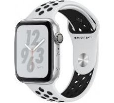 Apple Watch Nike+ Series 4 GPS, 44mm Silver Aluminum Case with Pure Platinum/Black Nike Sport Band MU6K2ZP/A
