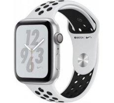 Apple Watch Nike+ Series 4 GPS, 40mm Silver Aluminum Case with Pure Platinum/Black Nike Sport Band MU6H2ZP/A