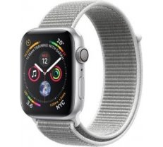 Apple Watch Series 4 GPS, 44mm Silver Aluminum Case with Seashell Sport Loop MU6C2ZP/A