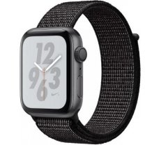 Apple Watch Nike+ Series 4 GPS, 40mm Space Gray Aluminum Case with Black Nike Sport Loop MU7G2ZP/A