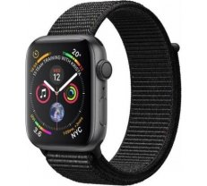 Apple Watch Series 4 GPS, 40mm Space Gray Aluminum Case with Black Sport Loop MU672ZP/A