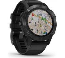 Garmin Fenix 6 Pro Music WiFi GPS Tough Gorilla Glass 47mm Black / Black Band Watch 010-02158-02