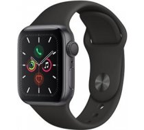 Apple Watch Series 5 GPS, 40mm Space Gray Aluminum Case with Black Sport Band - S/M & M/L MWV82EL/A