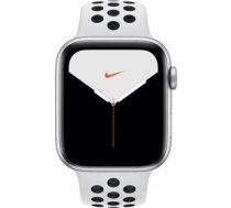 Apple Watch Nike Series 5 GPS, 40mm Silver Aluminium Case with Pure Platinum/Black Nike Sport Band MX3R2EL/A