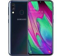 "Samsung Galaxy A40 Black, 5.9 "", Super AMOLED, 1080 x 2340, Exynos 7904, Internal RAM 4 GB, 64 GB, MicroSD, Dual SIM, Nano-SIM, 3G, 4G, Main camera 16+5 MP, Secondary camera 25 MP, Android, 9.0, 3100 mAh A40/64/4BLACK"