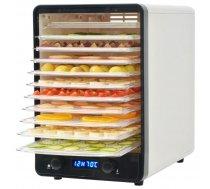 pārtikas dehidrators ar 10 nodalījumiem, 550 W, balts