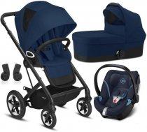 Bērnu rati 3in1 - Cybex Talos S Lux Navy Blue + Aton 5 Bērnu rati 3in1
