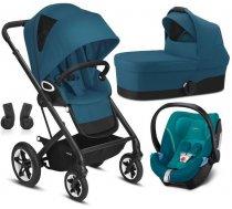 Bērnu rati 3in1 - Cybex Talos S Lux River Blue + Aton 5 Bērnu rati 3in1