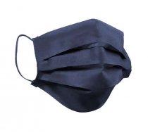Qubo Qubo Face Mask Tumši pelēkā Sejas 3-slāņu aizsargmaska ar gumijām mazgājama ar filtru