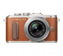 Olympus PEN E-PL8 Brown + 14-42mm EZ Silver