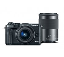 Canon EOS M6 Double Kit 15-45mm IS STM + 55-200mm IS STM Black
