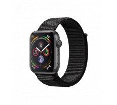 Apple Watch Series 4 44mm Space Gray Aluminum Case with Black Sport Loop MU6E2
