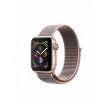 Apple Watch Series 4 40mm Gold Aluminum Case with Pink Sand Sport Loop MU692