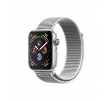 Apple Watch Series 4 44mm Silver Aluminum Case with Seashell Sport Loop MU6C2