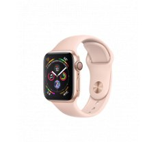 Apple Watch Series 4 40mm Gold Aluminum Case with Pink Sand Sport Band MU682