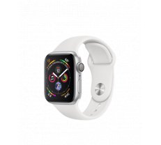 Apple Watch Series 4 40mm Silver Aluminum Case with White Sport Band MU642