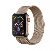 Apple Watch Series 4 44mm GPS + Cellular Gold Stainless Steel Case with Gold Milanese Loop MTX52