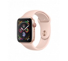 Apple Watch Series 4 44mm GPS + Cellular Gold Aluminum Case with Pink Sand Sport Band MTVW2