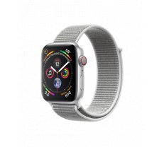 Apple Watch Series 4 44mm GPS + Cellular Silver Aluminum Case with Seashell Sport Loop MTVT2