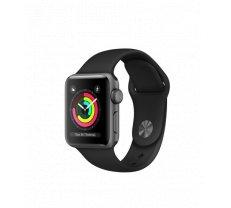 Apple Watch Series 3 38mm Space Gray Aluminum Case with Black Sport Band MTF02