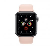 Apple Watch Series 5 40mm GPS Space Gray Aluminum Case with Sport Band Pink Sand