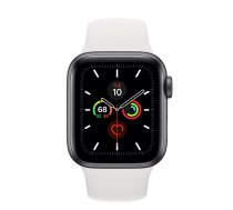 Apple Watch Series 5 40mm GPS Space Gray Aluminum Case with Sport Band White