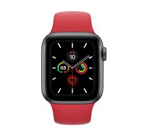 Apple Watch Series 5 40mm GPS Space Gray Aluminum Case with Sport Band (PRODUCT)Red