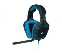 Logitech G430 Binaural Head-band Black,Blue headset 981-000537