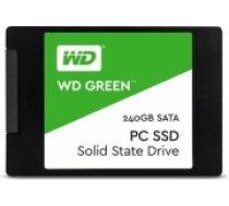 "SSD | WESTERN DIGITAL | Green | 240GB | USB 3.0 | TLC | Write speed 465 MBytes/sec | Read speed 540 MBytes/sec | 2,5"" | MTBF 1750000 hours | WDS240G2G0A (WDS240G2G0A)"