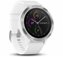 GARMIN Vivoactive 3 GPS Fitness Smartwatch (White & Stainless) (010-01769-22)