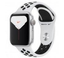 Apple Watch Nike Series 5 GPS, 40mm Silver Aluminium Case with Pure Platinum/Black Nike Sport Band Model nr A2092 (MX3R2EL/A)