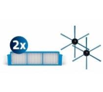 PHILIPS SmartPro Easy Nomaiņas komplekts: 2 filtri un 1 birste, priekš putekļusūcējiem robotiem - FC8007/01 (FC8007/01)