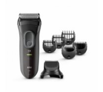 Braun 3000BT Black Shaver+Trimmer
