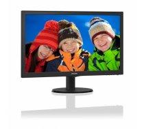 Monitor PHILIPS 223V5LHSB2/00 FHD 1920x1080p 16:9 10M:1 200cd 5ms VGA/HDMI, VESA, c.:Black