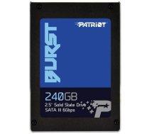 "SSD PATRIOT Burst 240GB SATA 3.0 Write speed 500 MBytes/sec Read speed 555 MBytes/sec 2,5"" TBW 180 TB MTBF 2000000 hours PBU240GS25SSDR"