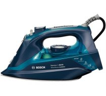 Iron Bosch TDA703021A Blue, 3200 W, With cord, Continuous steam 50 g/min, Steam boost performance 200 g/min, Anti-drip function, Anti-scale system, Vertical steam function, Water tank capacity 380 ml