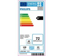 "Philips 43PFS5525/12 43"" (108 cm), Full HD, 1920 x 1080, DVB-T/T2/T2-HD/C/S/S2, Silver"