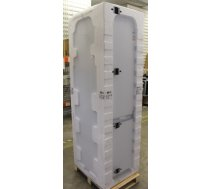 SALE OUT.  LG Refrigerator GBB72SWEFN A+++, Free standing, Combi, Height 203 cm, No Frost system, Fridge net capacity 292 L, Freezer net capacity 127 L, Display, 36 dB, Super White, DAMAGED FRONT DOOR, DENTS ON FRONT DOOR AND SIDES