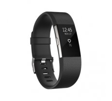 Fitbit Charge 2 Black Silver L